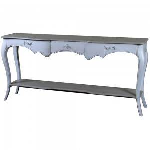 Alsace Heavy Distressed Turquoise 3 Drawer Console Table