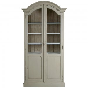 Amelie French Silver Louis Display Cabinet