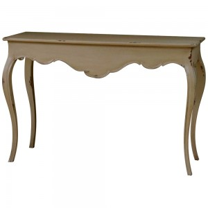 Malvern Console Table 3 Drawer Slattered Shelf