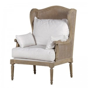 Villeneuve French Oak Wing Chair