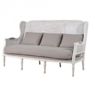 Belfort Lime Washed 3 Seat French Sofa