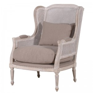 Chatsworth Patterned Linen Armchair