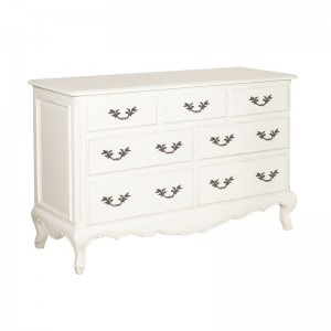 Loire Light Grey 7 Drawer French Chest