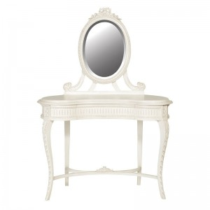 Antique White Provencale French Rococo Dressing table with Mirror