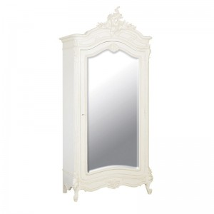 Rochelle Noir French Mirrored Armoire