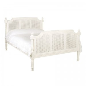 Reproduction Painted Louis Rattan Bed