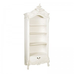 Provencale Antique White Small Open French Bookcase