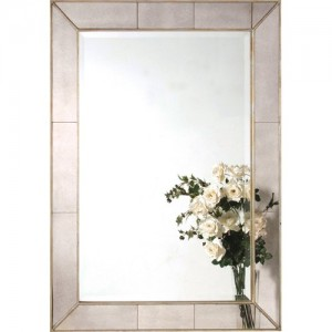 Portofino Light Grey Leaves Mirror