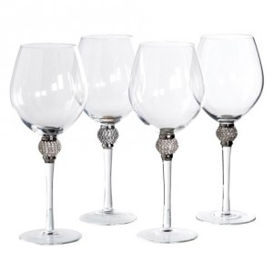 Set of 4 Gold Leaf Martini Glasses