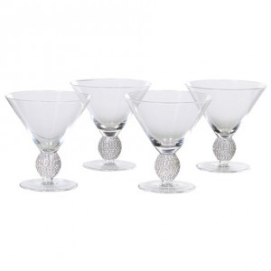 Silver Diamante Glass Decanter