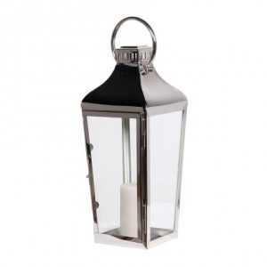 Black Bamboo Curved Wall Lantern