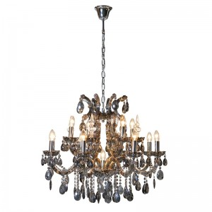 Silver & Glass Drop Ceiling Light
