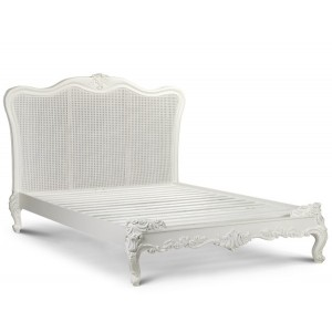 Sophia Painted Louis XV Rattan Bed