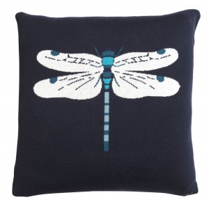 Peacocks Knitted Statement Cushion