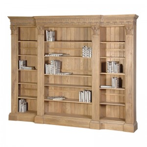 Belfort Grey Lime Washed Tall Bookcase