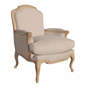 Belfort Grey Lime Washed French Armchair