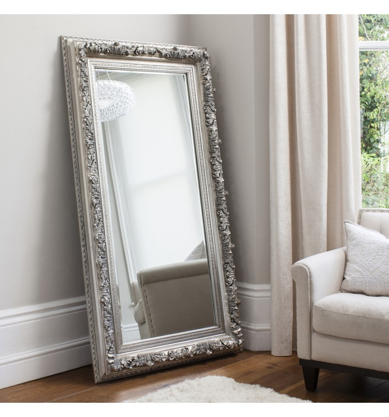 Antwerp Leaner Mirror Silver French Style Mirrors