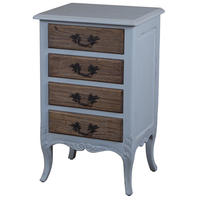 Louis French  Drawer Bedside Table