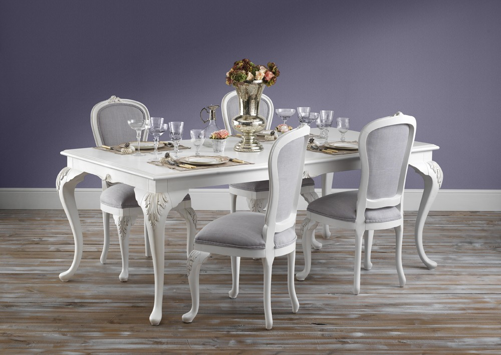 Beaulieu Upholstered French Dining Chair · Beaulieu Dining Chairs With  Table View