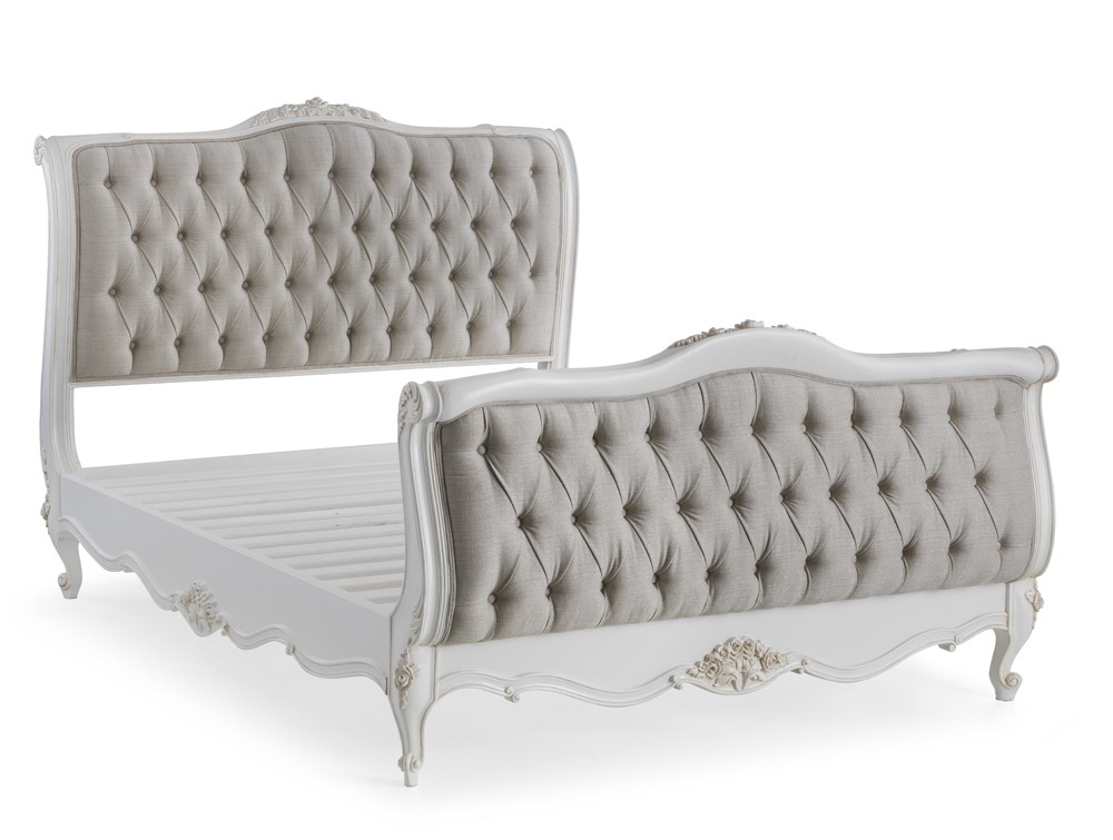 Beaulieu French Upholstered Bed With High Footboard