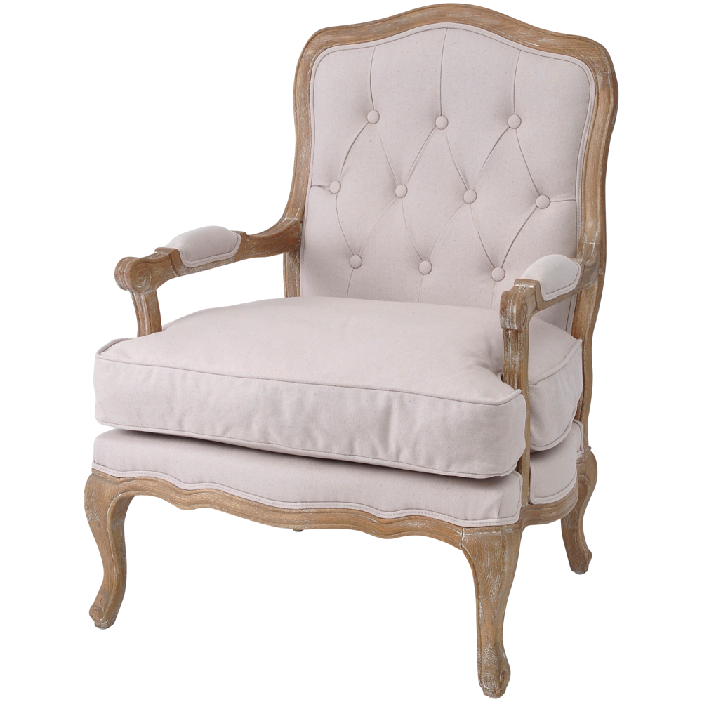 Awesome Cream Linen Buttoned Back French Armchair | French Armchairs | French  Living Room Furniture