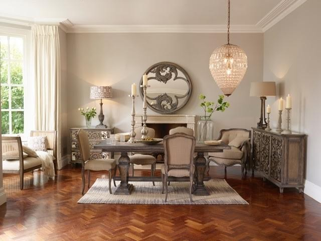 Louis Distressed Wood Dining Table Crown French Furniture