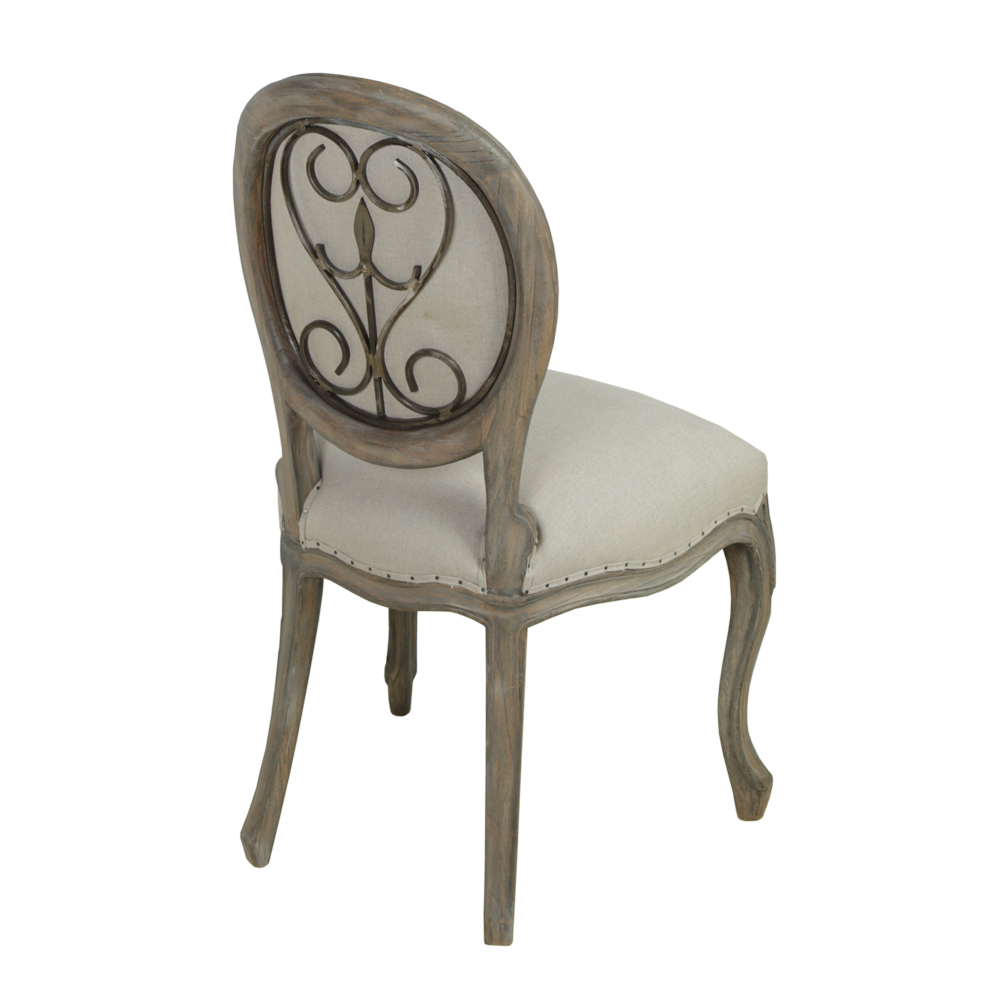 Dining Room Furniture Styles: Dorset French Style Metal Back Dining Chair