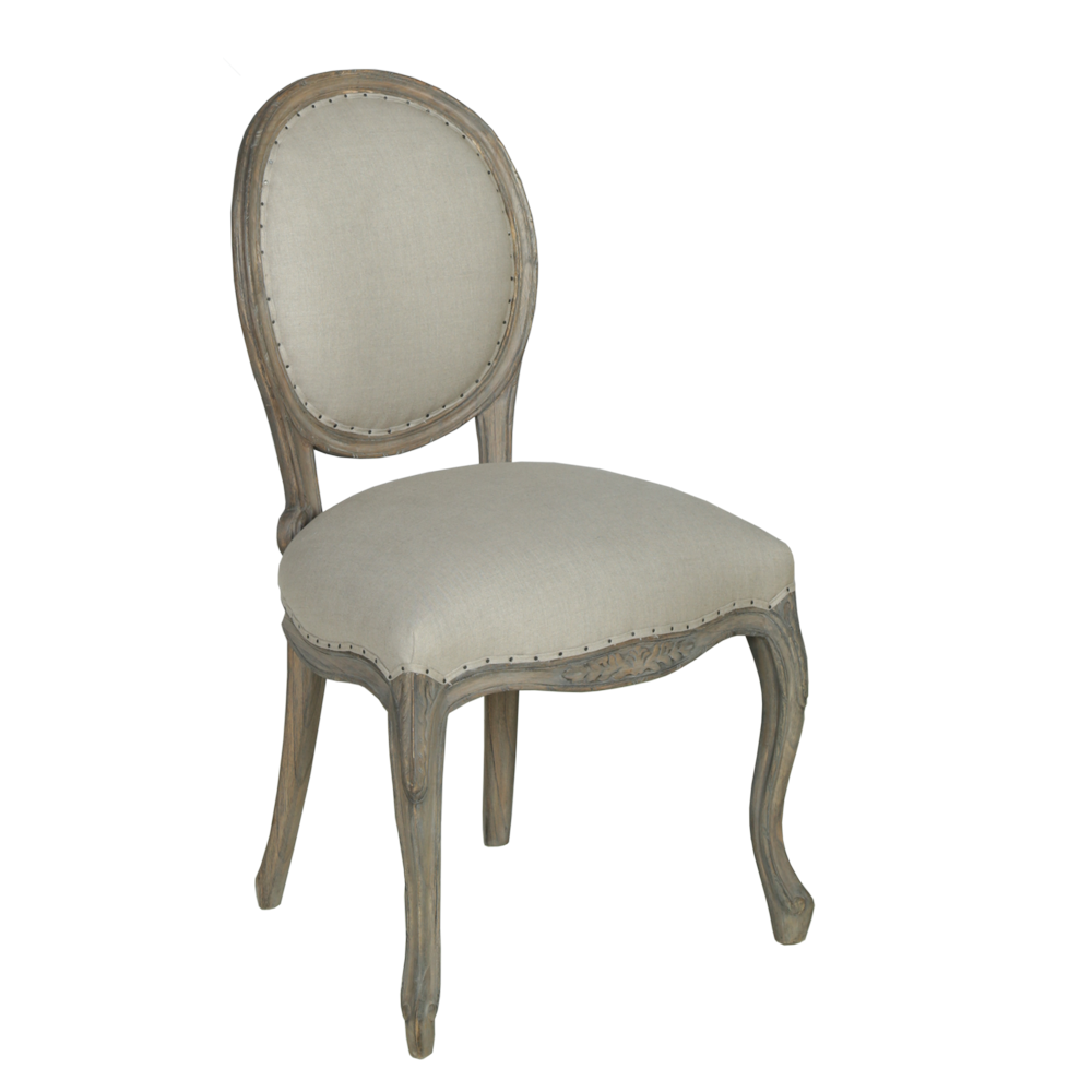Dorset French Dining Chair   Finished In Oldwood Pearl