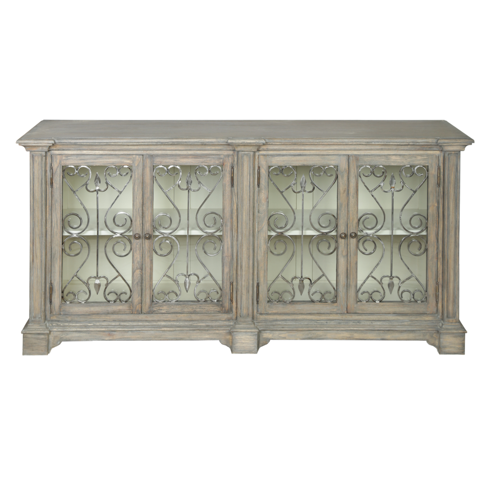 Dorset Metal Front Contemporary Large Sideboard French