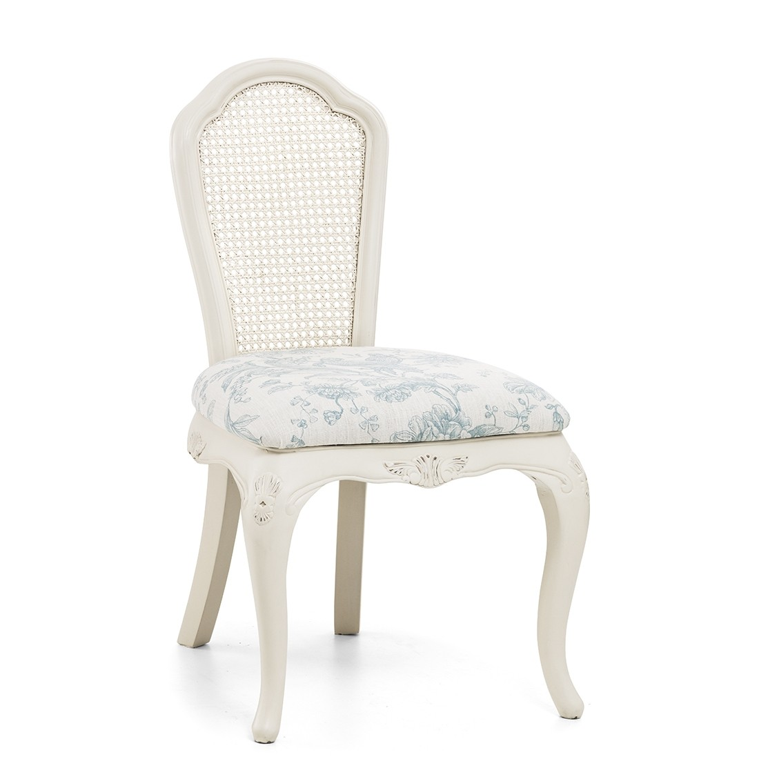 Ivory Upholstered French Bedroom Chair - Crown French ...