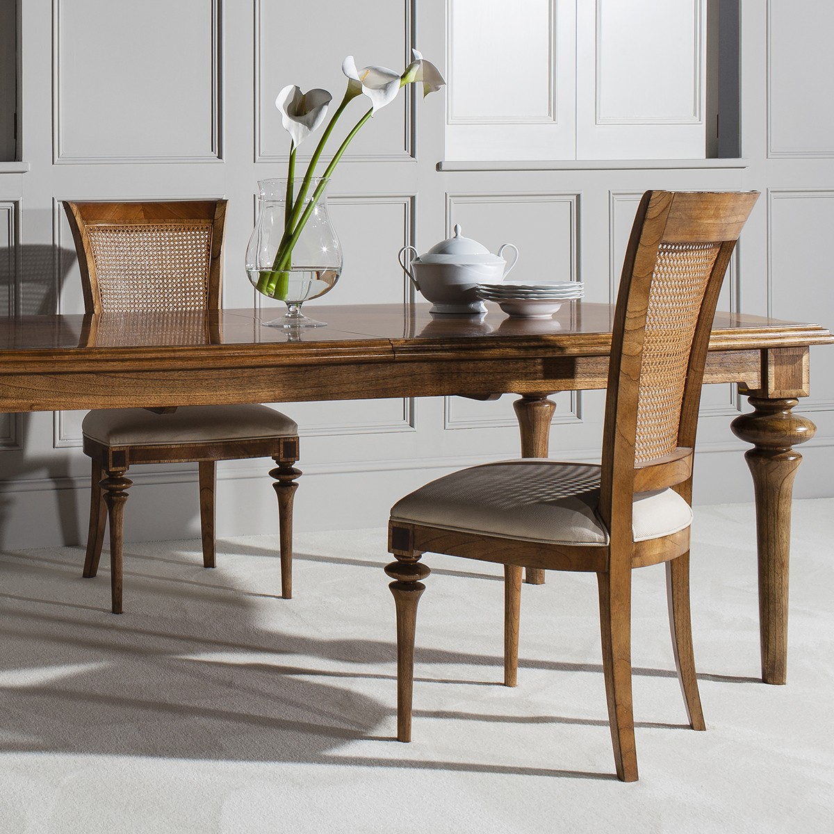 Lille Traditional French Rattan Back Dining Chair - Crown ...