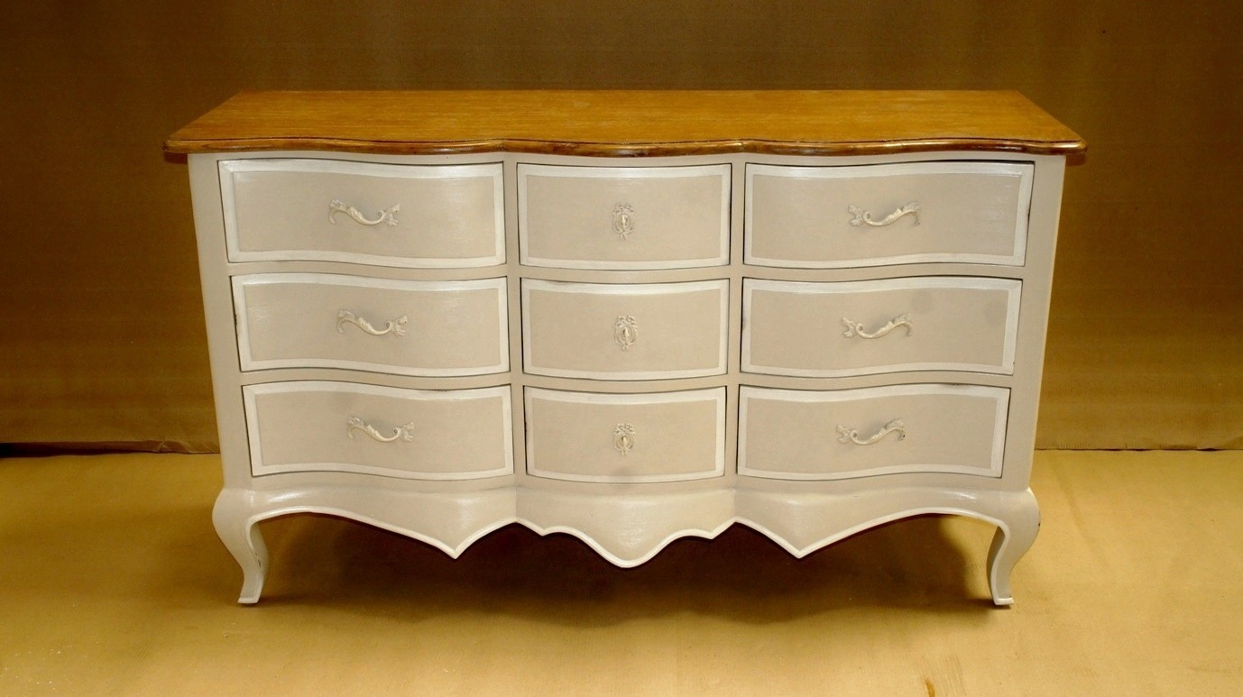Louis French 9 Drawer Isabella Chest Of Drawers Chateau