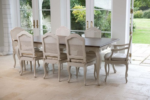 Louis Dining Table Set Image   With CHA55