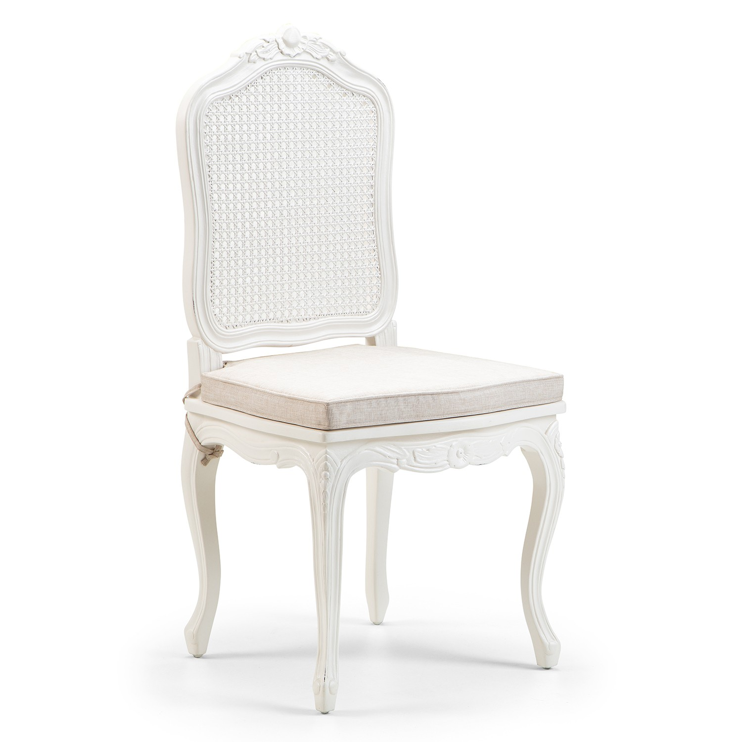Picture of: Louis French Antique White Rattan Back Chair French Dining Furniture French Chairs