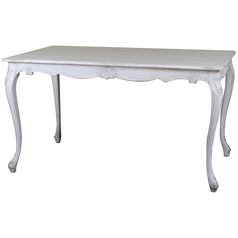 Louis French Antique White Dining Table Antique White