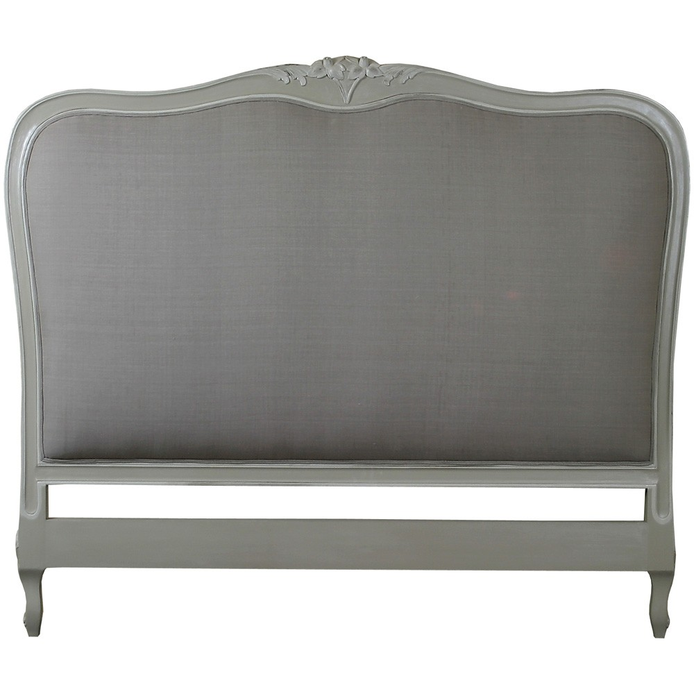 Louis french upholstered headboard crown french furniture Headboard with pictures