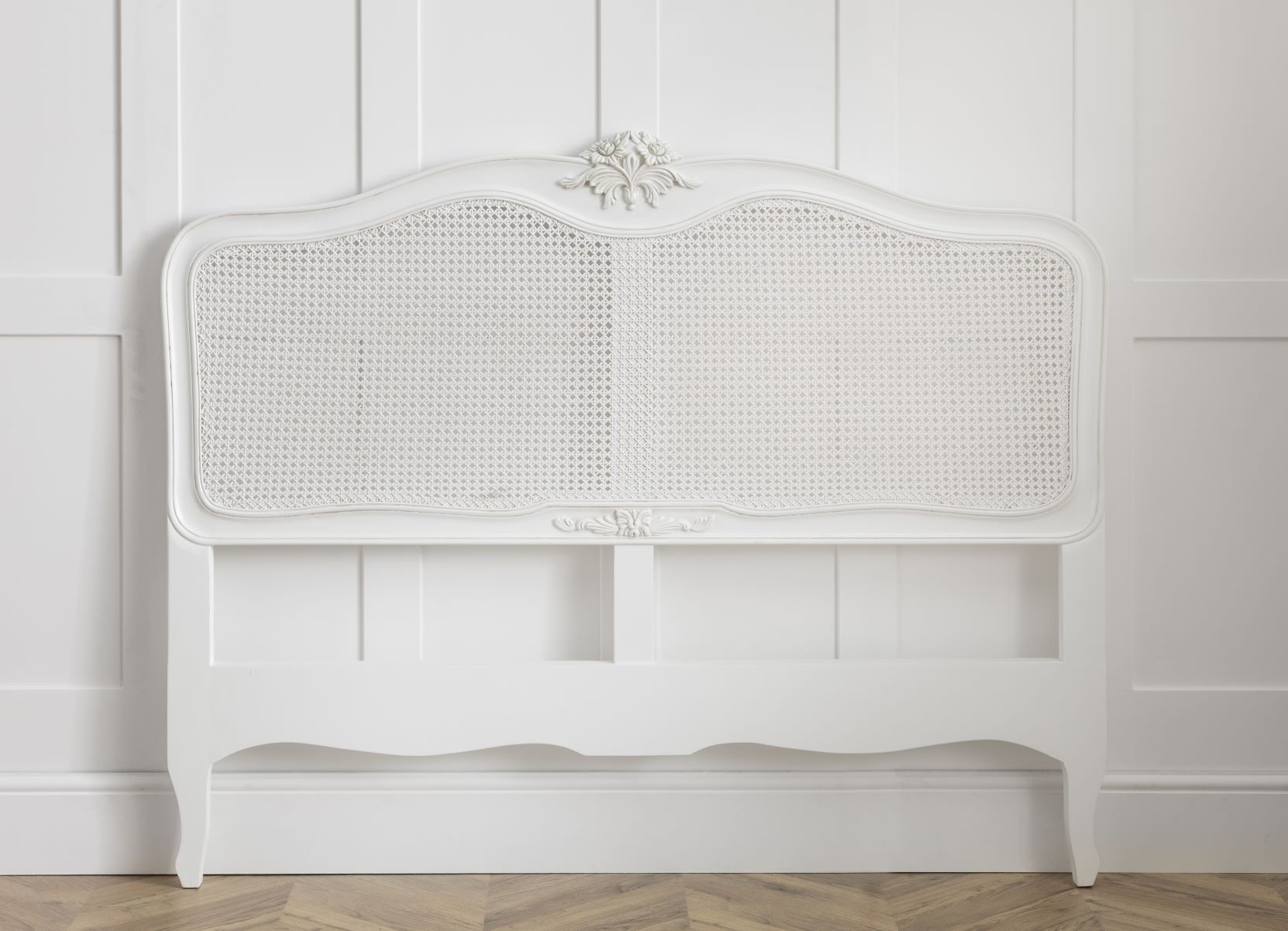 Louis French Antique White Rattan Headboard French Headboards White French Bedroom Furniture