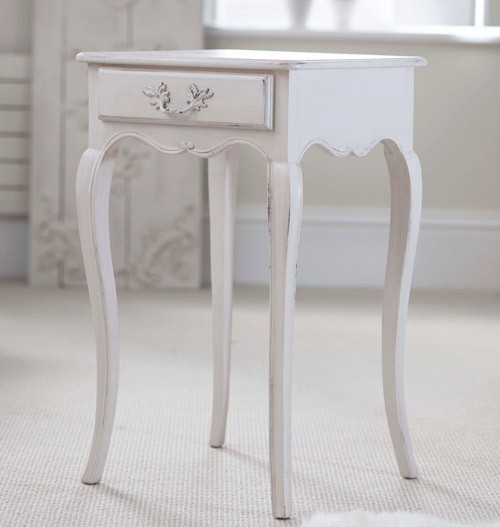 Lyon one drawer french bedside table french bedside tables lyon bedside table finished in chalk watchthetrailerfo