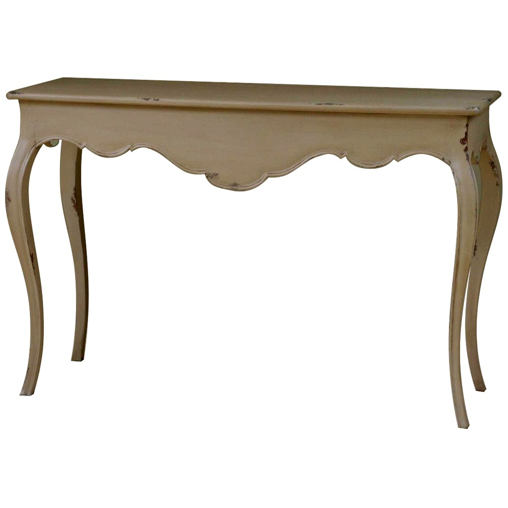 Lyon french carved hall table french console tables crown french furniture - White hall table uk ...
