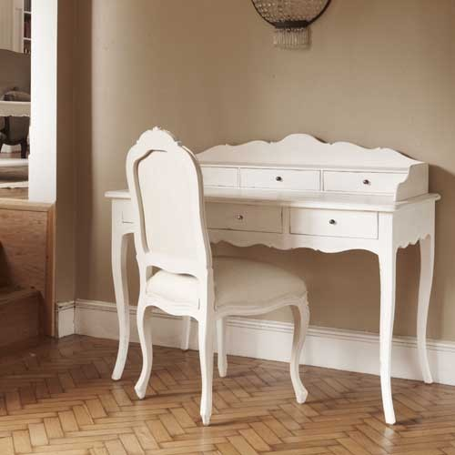 Lyon French Painted Writing Desk White Painted Writing