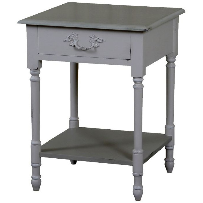Lyon French Bedside Tables With Shelf Shabby Chic