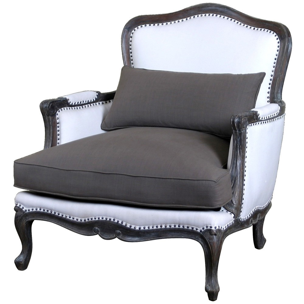 Lyon Upholstered French Sofa Chair French Armchairs