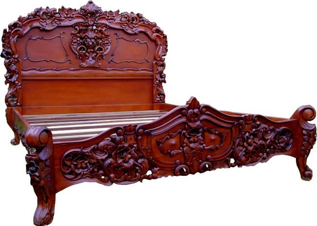 mid mahogany rococo french bed crown french furniture