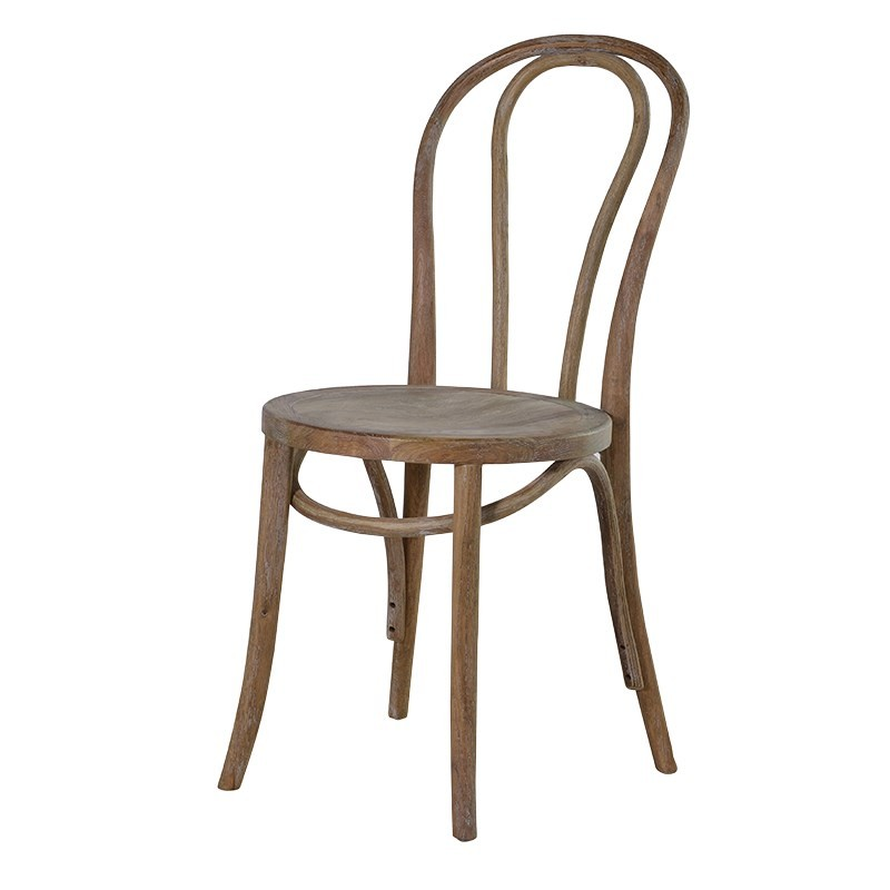 Oak Round Seat Dining Chair Traditional French