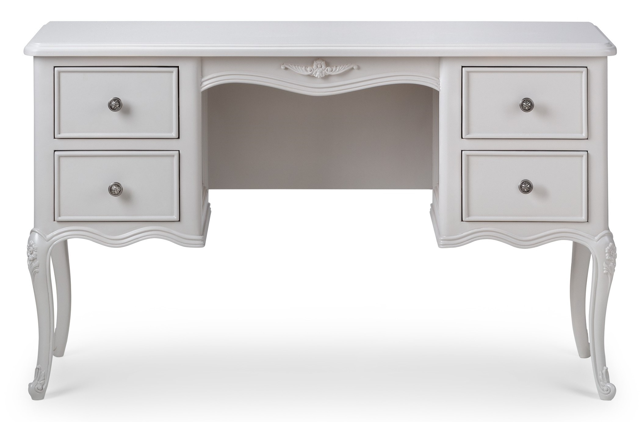 Parisian French Grey Dressing Table Crown French Furniture