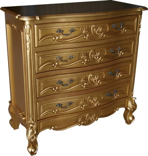 Rococo Chest Of Drawers Gold Antique Gold Chest Of