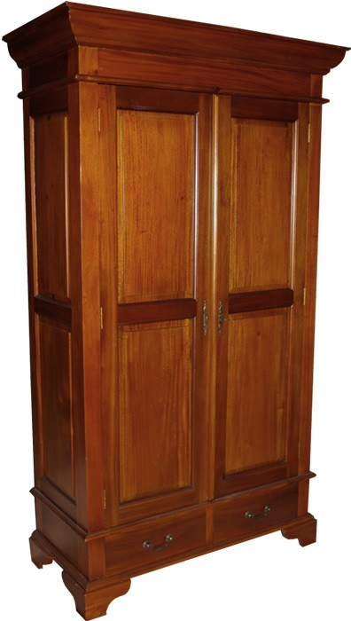 French sleigh wardrobe mahogany bedroom furniture french wardrobes for French reproduction bedroom furniture