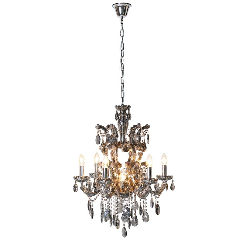 Large smoked glass chandelier french style glass chandelier small smoked glass french chandelier aloadofball Gallery