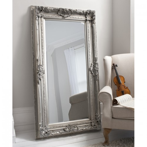 Valois Mirror Silver Leaf Tall Leaner Mirror French
