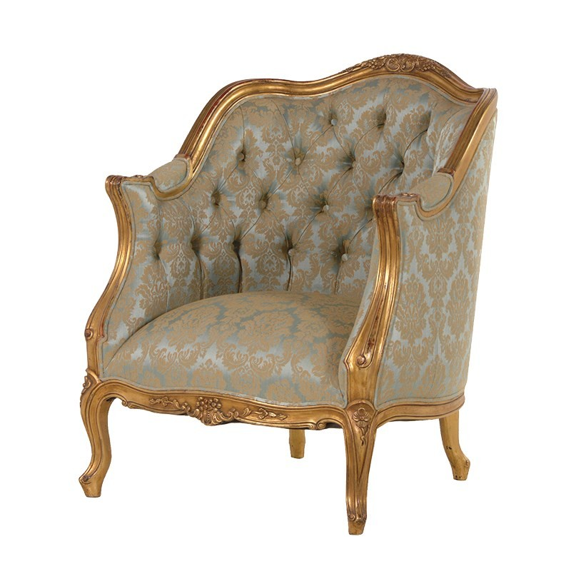 Versailles French Armchair With Green Upholstery French